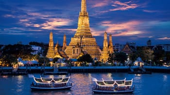 riverside view in bangkok, thailand