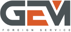 huge grey and orange GEM logo