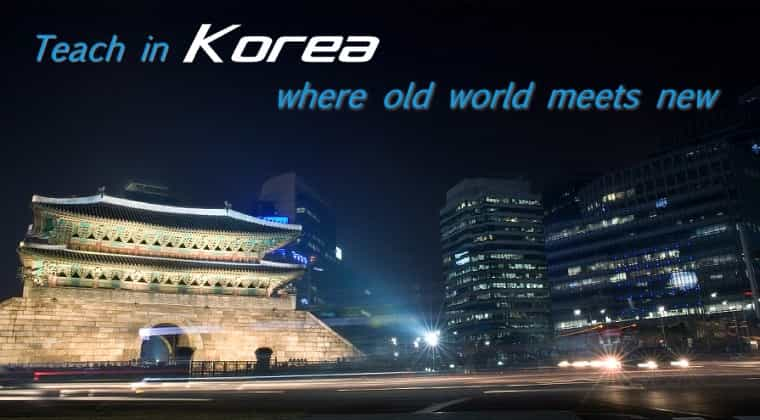 KORJOB company motto: Teach in Korea, where old meets new